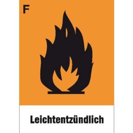 Gefahrsymbol Einzelschild - 10,4x7,4cm DE489