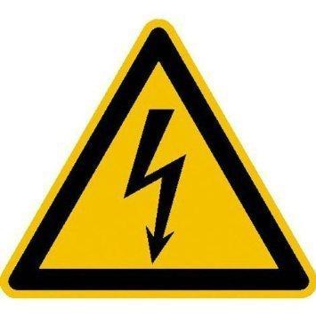 Warnung vor gefährlicher elektrischer Spannung - 20cm DE904