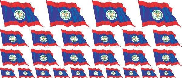 Mini Fahnen / Flaggen - Belize