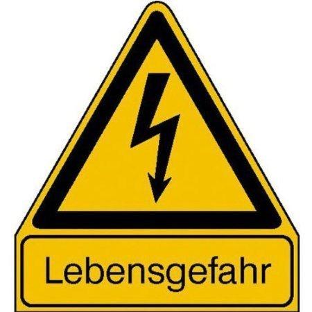 Lebensgefahr Warnschild - 21,00x24,50cm DE675
