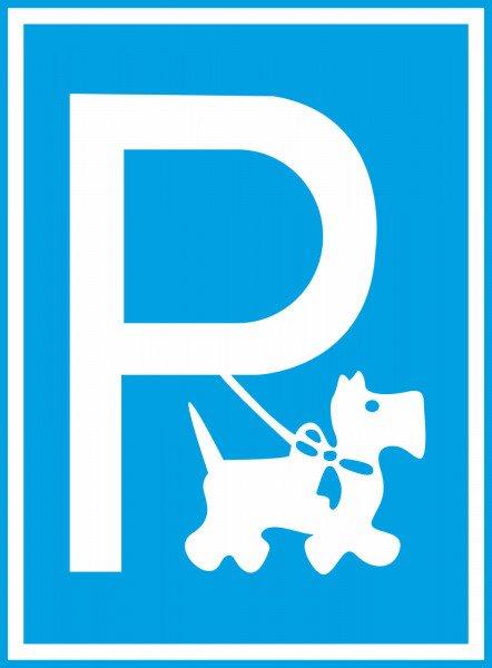 Hundeparkplatz (Symbolschild) Hinweisschild für Gewerbe und Privat,15x20 cm
