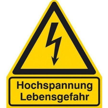 Hochspannung Lebensgefahr Warnschild - 297x286cm DE339