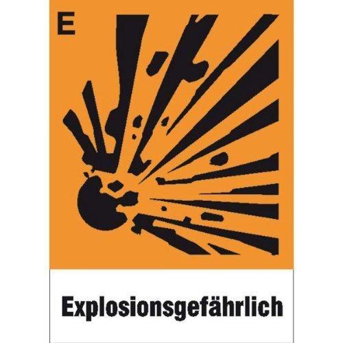 Gefahrsymbol Einzelschild - 5x14,80cm DE136