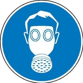 Atemschutz benutzen Gebotsschild - 31,5cm DE840