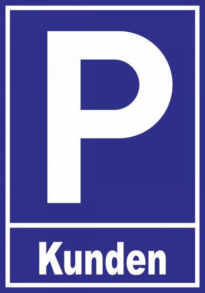 Parkplatzschild - Kunden - 30x21 cm