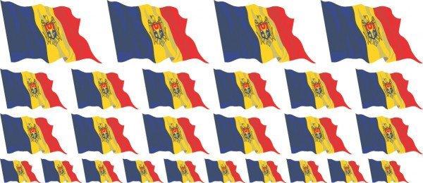 Mini Aufkleber Set - Moldavien