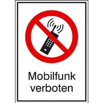 Mobilfunk verboten - 13,10x18,50cm DE1027