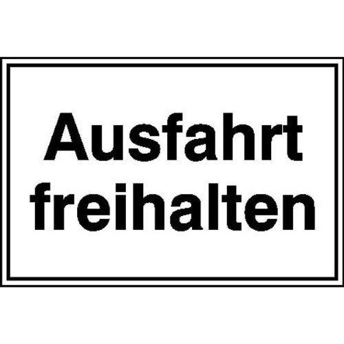 Ausfahrt freihalten Hinweisschild für Ausfahrten - 25x15cm DE55