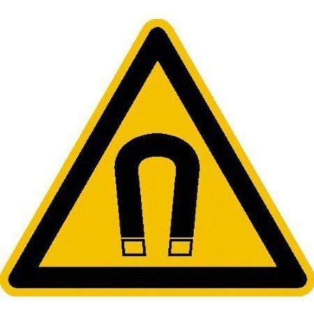Warnung vor magnetischem Feld Warnschild - 10cm DE423