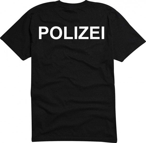 T-Shirt POLIZEI bedruckt NEU S - Brustaufdruck