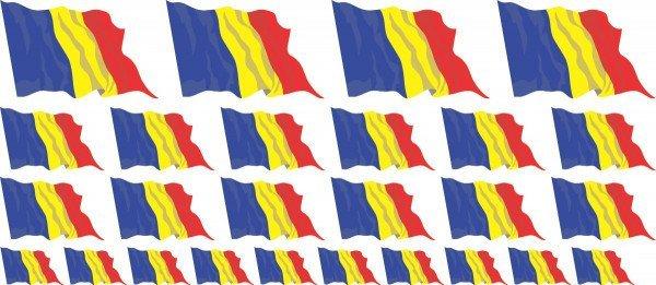 Mini Aufkleber Set - Rumänien