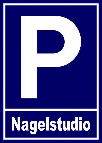 Parkplatzschild - Nagelstudio - 21x15 cm