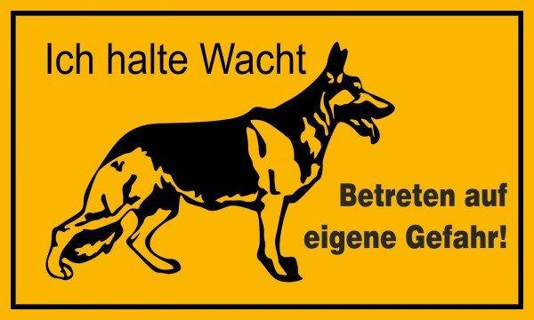 Schäferhund Hinweisschild zur Grundbesitzkennzeichnung 25x15 cm