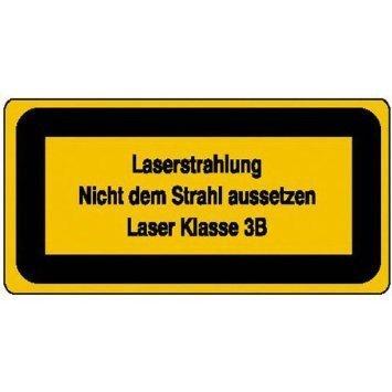 Laserkennzeichnung Laserstrahlung Nicht dem Strahl aussetzen - 50x5,20cm DE929