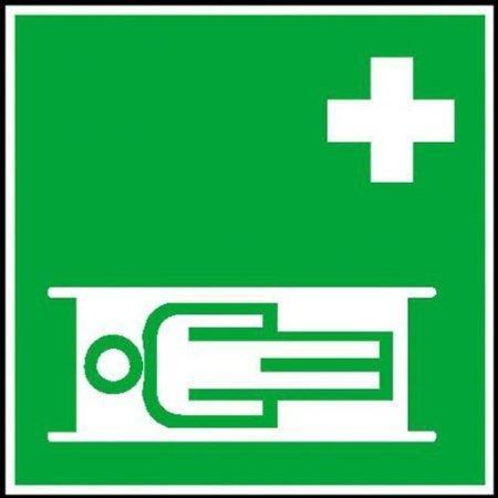 Krankentrage Rettungsschild - 20x20cm