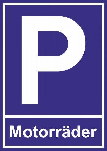 Parkplatzschild - Motorräder - 30x21 cm