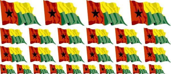 Mini Aufkleber Set - Fahne - Guinea Bissau