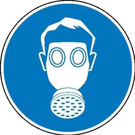 Atemschutz benutzen Gebotsschild, Büro Sicherheit - 20cm DE404