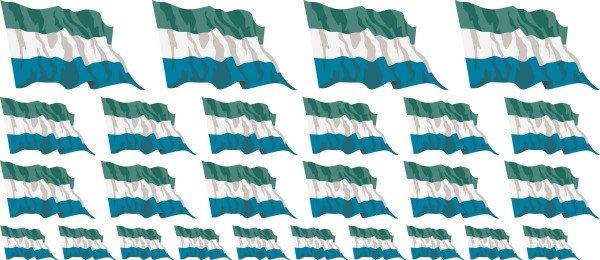 Mini Aufkleber Set - Sierra Leone