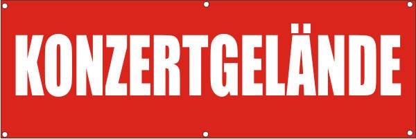 Werbeplane / Gerüstplane - p113 - Konzertgelände - NEU - für Baustelle, Garten, Zaun oder Veranstalt