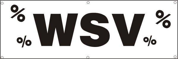Werbeplane / Gerüstplane - p035 - WSV - NEU - für Baustelle, Garten, Zaun oder Veranstaltung