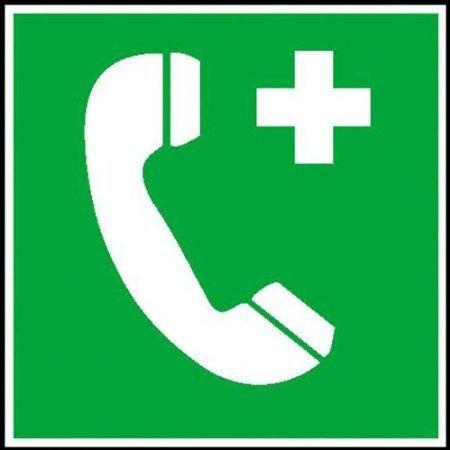 Notruftelefon Rettungsschild - 15 x15cm DE456