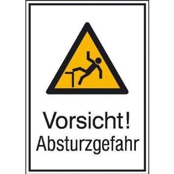 Vorsicht! Absturzgefahr - 13,10x18,50cm DE1038
