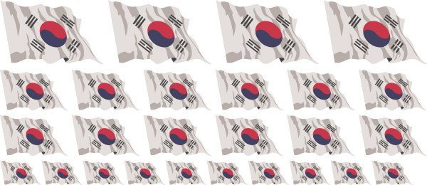 Mini Aufkleber Set - Südkorea