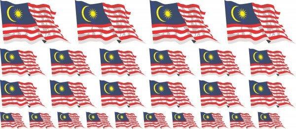 Mini Aufkleber Set - Malaysia
