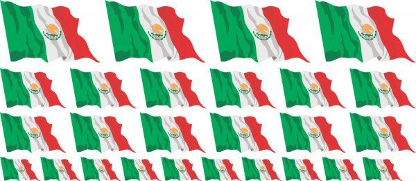 Mini Aufkleber Set - Mexico