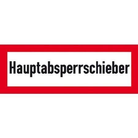 Hauptabsperrschieber - 29,70x10,50cm DE416