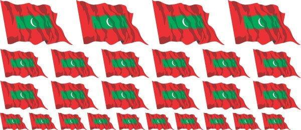 Mini Aufkleber Set - Malediven