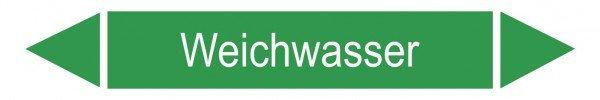 Rohrleitungskennzeichnung/Pfeilschild Gruppe1 Wasser(grün), 22,3x3,7cm