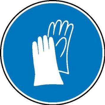 Schutzhandschuhe benutzen Gebotsschild - 10cm DE778