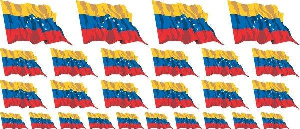 Mini Aufkleber Set - Venezuela