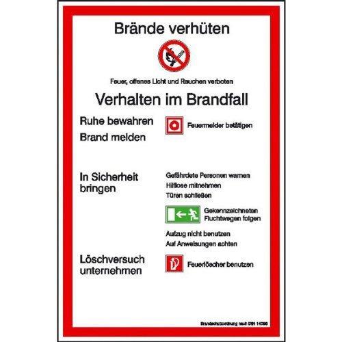 Aushang Brandschutzordnung Teil A gem. DIN 14096-1 - 20x30cm DE82