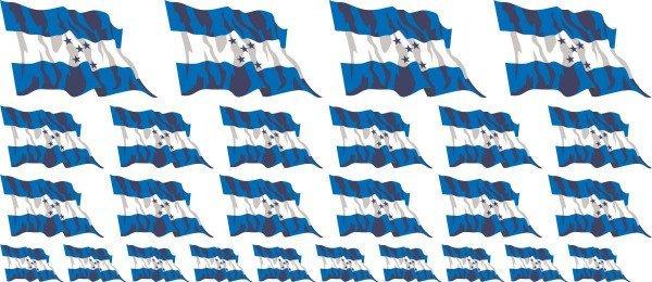 Mini Aufkleber Set - Fahne - Honduras
