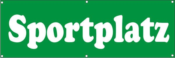 Werbeplane / Gerüstplane - p143 - Sportplatz - NEU - für Baustelle, Garten, Zaun oder Veranstaltung