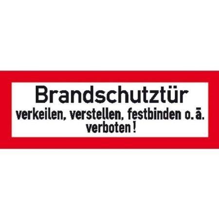 Hinweisschild für den Brandschutz Brandschutztür - 29,7x10,5cm DE342