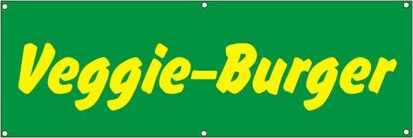 Werbeplane / Gerüstplane - p078 - Veggie-Burger - NEU - für Baustelle, Garten, Zaun oder Veranstaltu
