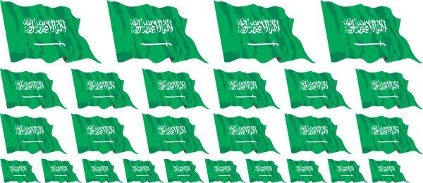 Mini Aufkleber Set - Saudi Arabien