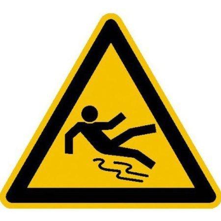 Warnung vor Rutschgefahr Warnschild - 31,5cm DE711