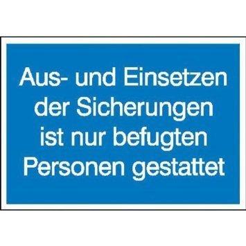 Aus- und Einsetzen der Sicherungen ist befugten Personen...- 10,50x7,40cm DE960