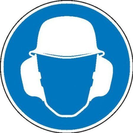 Gehör- und Kopfschutz benutzen Gebotsschild - 31,50cm 5