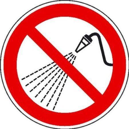 Mit Wasser spritzen verboten Verbotsschild, Büro Sicherheit 10cm DE464