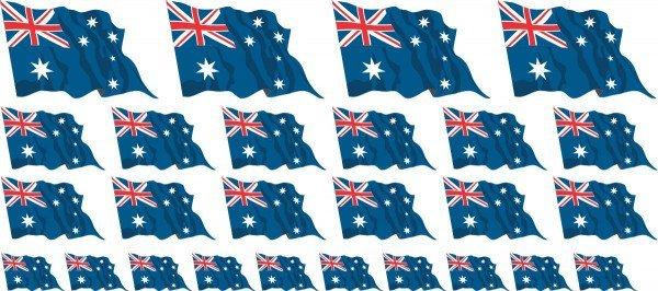 Mini Fahnen / Flaggen - Australien