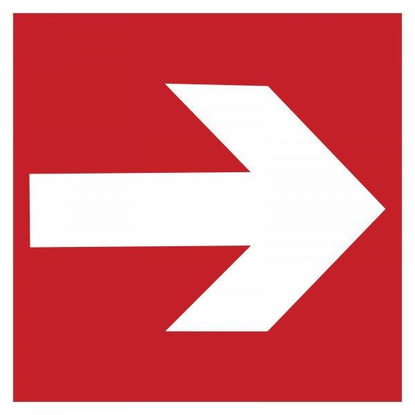 Richtungspfeil rechts/links - 14,8x14,8 cm