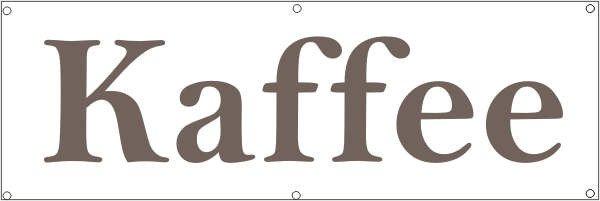 Werbeplane / Gerüstplane - p079 - Kaffee - NEU - für Baustelle, Garten, Zaun oder Veranstaltung