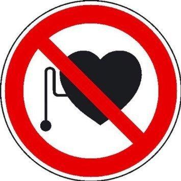Verbot für Personen mit Herzschrittmacher - 31,5cm DE964
