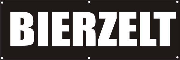 Werbeplane / Gerüstplane - p119 - Bierzelt - NEU - für Baustelle, Garten, Zaun oder Veranstaltung